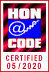 HONcode certification seal.